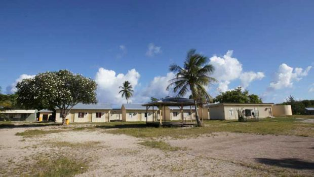 A school in Nauru, which is one of the proposed sites for an asylum seeker processing centre.