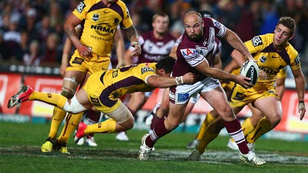 That's the difference ... whilst Manly continue their march to the finals, the Broncos find themselves struggling to ...