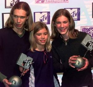 Hanson win big at the MTV Europe Music Awards in 1997.