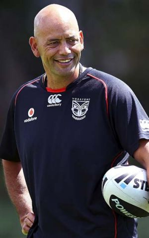 Panthers meeting … caretaker Warriors coach Tony Iro.