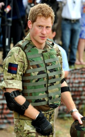 """Prince Harry, known to the British army as """"Captain Wales""""."""