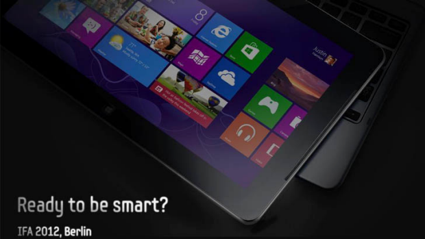 Samsung posted a picture late on Sunday night in the US teasing a Windows 8 tablet to be showcased this week at the IFA ...