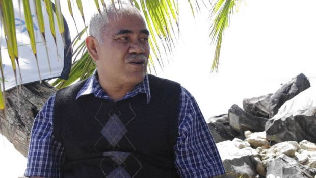 Bemused … the Tuvalu Prime Minister, Willy Telavi.