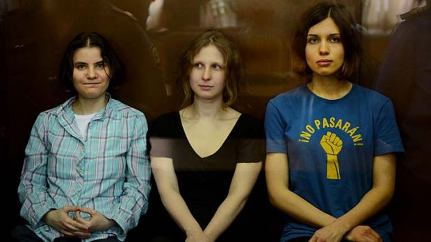 Convicted of hooliganism ... Pussy Riot band members