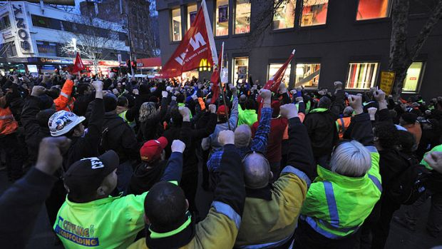 CFMEU members returned to the Emporium site early this morning to continue their protest but began to disperse by about ...