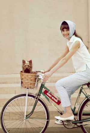Audrey Hepburn in 1957. The actress preferred to stay active rather than take any exercise - but seemed to eat ...