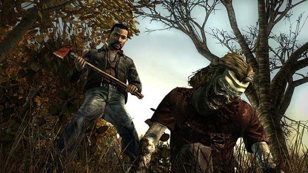 Different perspective ... a screenshot of <em>Walking Dead: The Game</em>.