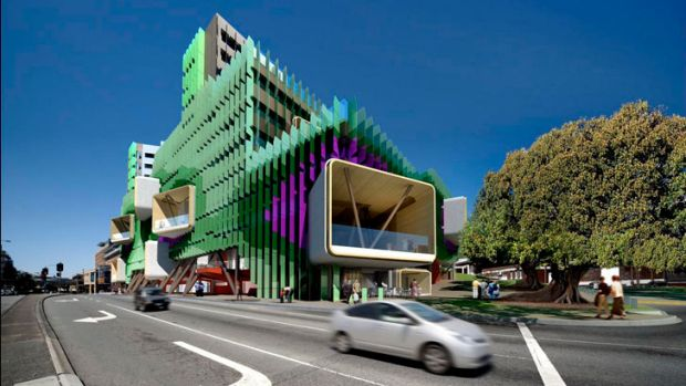 An artist's impression of what the finished Queensland Children's Hospital will look like.