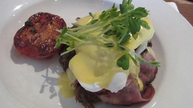 The hollandaise sauce was generously served and the eggs were perfectly cooked.