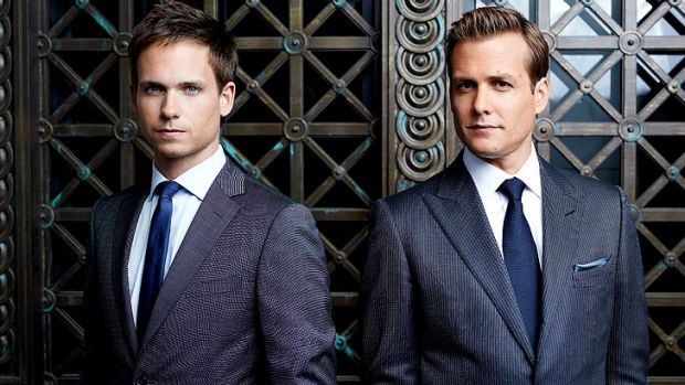 <i>Suits</i>, starring Patrick J. Adams and Gabriel Macht, is good, frothy fun.