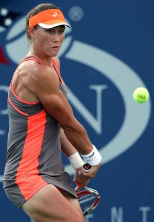 Muscling in: Sam Stosur is into the third round.