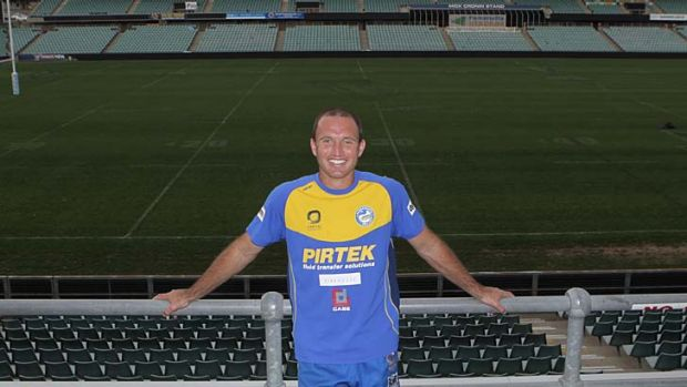 Going … Luke Burt has witnessed big changes in the physique of outside backs during his NRL career.