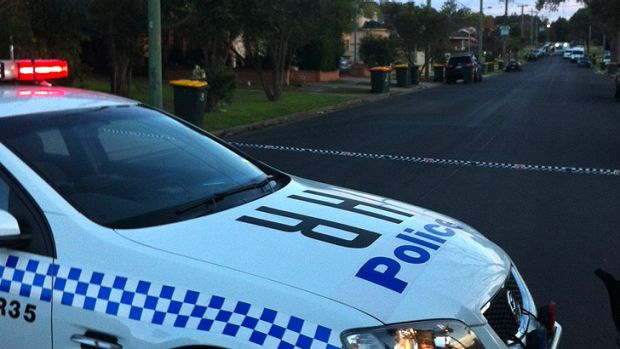 Boronia Street is taped off at the scene of the shooting this morning.