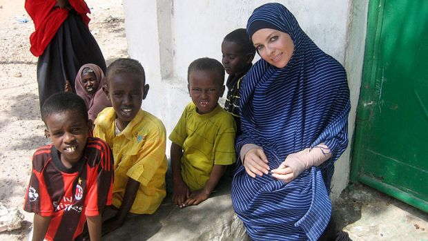 Intelligent and dignified: Imogen Bailey in Mogadishu.
