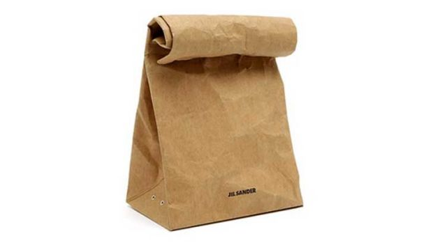 Jil Sander's a/w 2012 Vasari clutch is a brown paper bag... Really. And it will cost you nearly $300. <i>Source: Jil ...