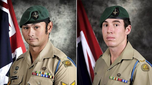 Lance Corporal Mervyn McDonald and Private Nathanael Galagher.