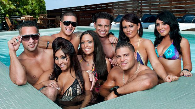 The cast of <i>Jersey Shore</i>.