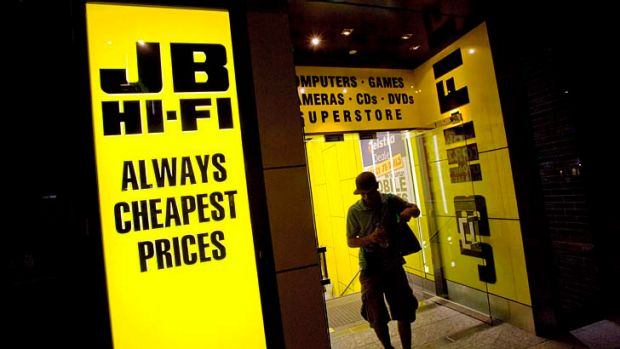 JB Hi-Fi shares had fallen 10 per cent since the beginning of May, losing ground before the budget and after its release.