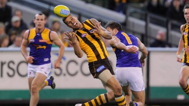 Lance Franklin makes his mark at the MCG.