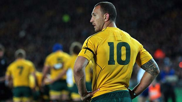 Subjected to base Kiwi taunts ... Quade Cooper.