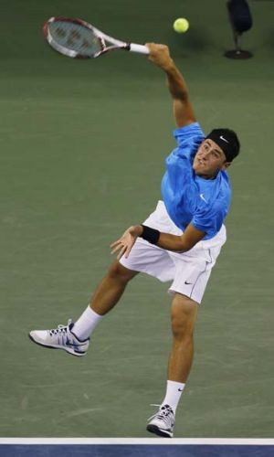 Big occasion ... Bernard Tomic admitted to a case of nerves in his centre court loss to American Andy Roddick.