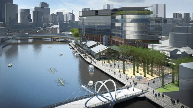 An artist's impression of the North Wharf.