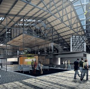 An artist's impression of the renovated No. 5 Goods Shed.