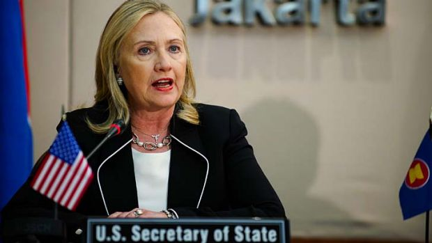 Advocate of diplomacy ... US Secretary of State Hillary Clinton.