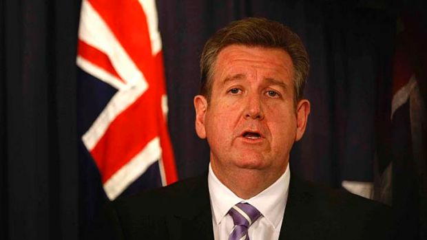 Unveiling ... Premier Barry O'Farrell revealed his transport master plan.