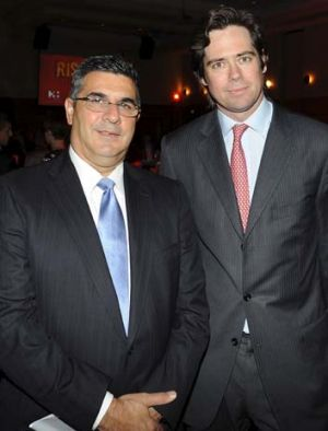 Targets ... Andrew Demetriou and Gillon McLachlan.