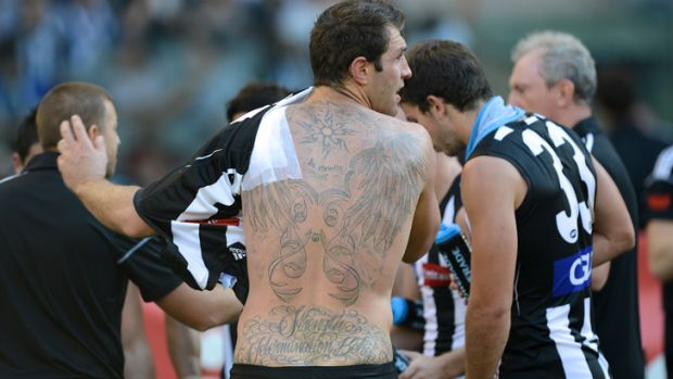 Second skin ... Collingwood players will wear jumpers made from varying fabric to make them harder to catch.