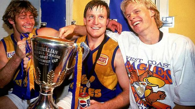 Worsfold (centre) would have secretly liked to have been a practical joker like Guy McKenna according to Dean Kemp (right).