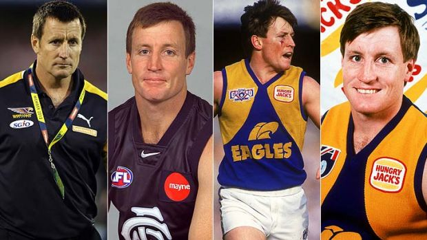 Four degrees of John Worsfold - West Coast coach, Carlton assistant coach, wounded Eagles warrior and fresh-faced young ...