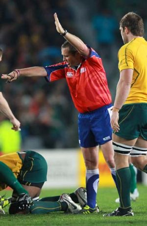 Not a favourite person among Springboks fans ... referee Bryce Lawrence.