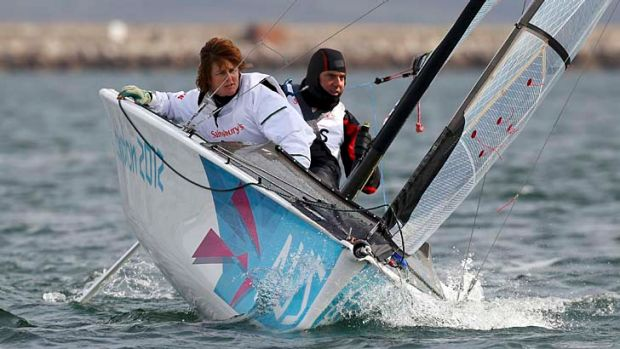 Sail aces: Leisl Tesch and Daniel Fitzgibbon compete at Weymouth.