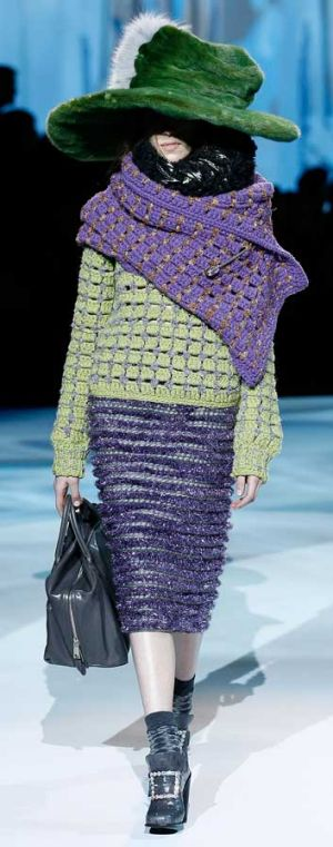 Marc Jacobs A/W 2012 was a bombastic show replete with oversized fluffy hats.