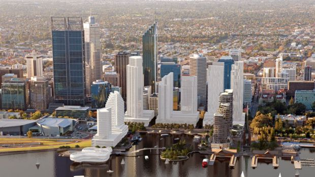 An impression of the planned Elizabeth Quay.