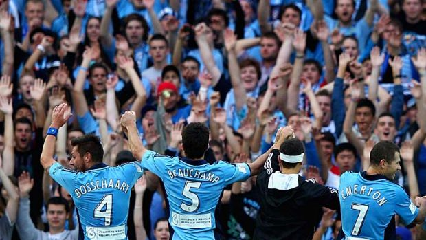High hopes ... Sydney FC will aim to match the Waratahs' average of 20,900 a game and close in on the city's two biggest ...