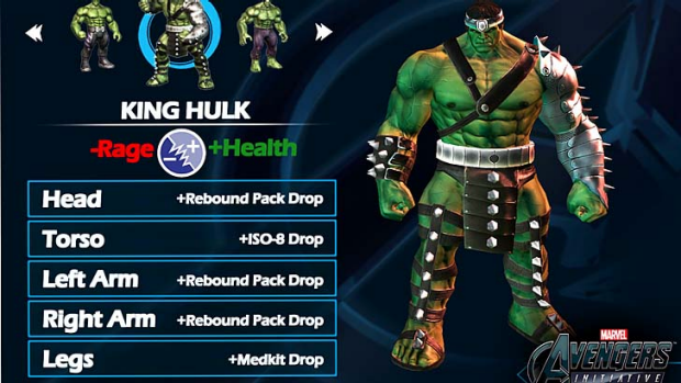 In the first episode you play as the Hulk.
