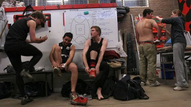 Brave stance: Yarra Valley footballer Jason Ball, third from right, wants the AFL to air anti-homophobia videos at the ...