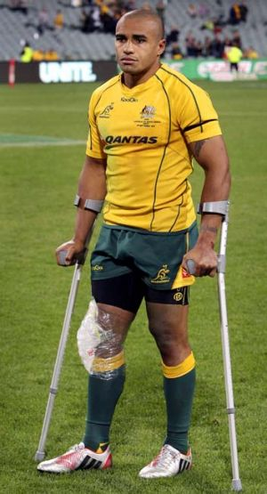 In need of some support ... Wallabies' captain Will Genia.