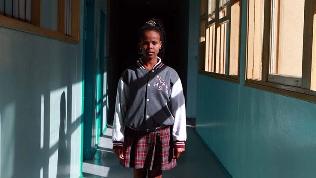 True grit … Frehiwet Haftu hopes to be accepted into an international studies degree.