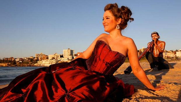 Lorina Gore ... will perform at Bondi Beach infront of an expected 10,000 Sydneysiders.
