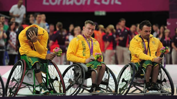Dejected ... (left to right) Tristan Knowles, Jannik Blair and Tige Simmons of Australia.