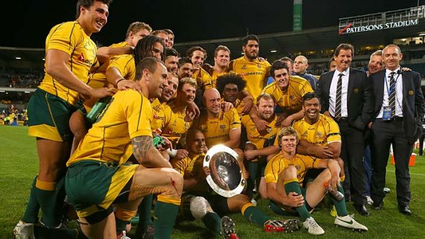 Delivered ... the Wallabies handled the pressure better  and that's why they finally boast a Rugby Championship victory.