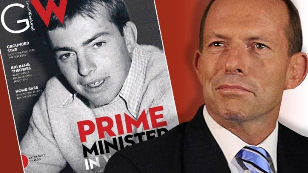 Tony Abbott now, and on the cover of Good Weekend as a driven university student inspired by Catholic crusader Bob ...