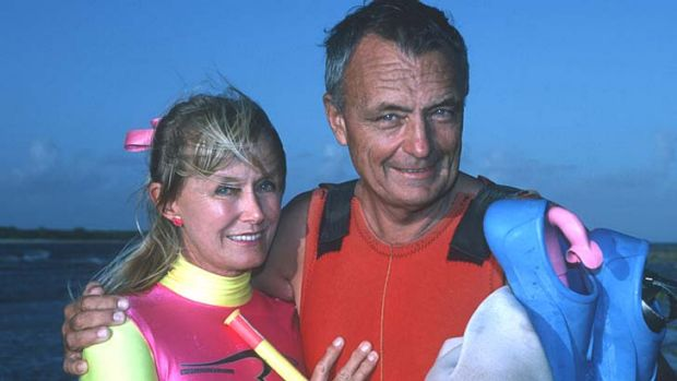 """Oz Jacques Cousteau"" ... Ron Taylor and his wife Valerie in a file picture."