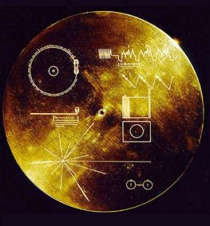 A file photo released by  NASA in 1970 shows the golden record on Voyager 1, launched on September 5, 1977, with a ...