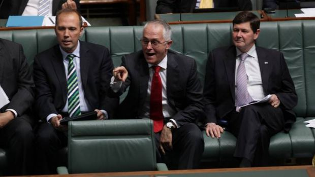 An animated Malcolm Turnbull in question time yesterday, the first since his claim that the Coalition's questions were ...