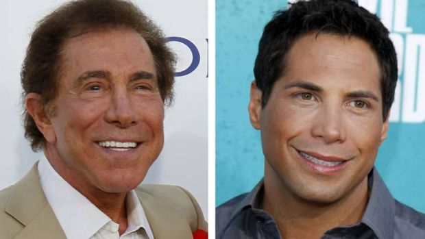 Court battle ... casino mogul Steve Wynn, left, and Girls Gone Wild creator Joe Francis, right.